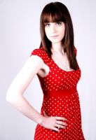 lady in red by carinasphotos
