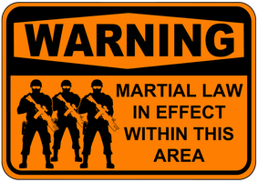 Martial Law Soldiers Sign by topher147