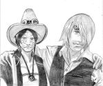 Ace et Sanji One piece portrait mangatise by yvelise