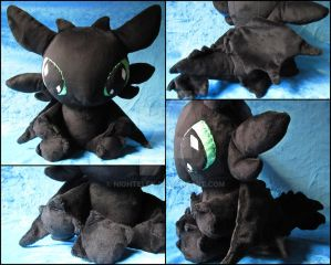 Floppy Toothless plush by nightelfy