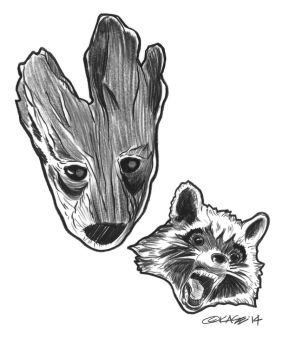 Guardians of the Galaxy: Rocket and Groot by MrExcite