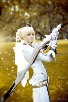 saber bride cosplay by SelenaAdorian