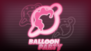 Balloon Party Pink Glow by KibbieTheGreat
