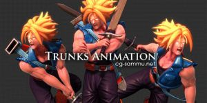 Dragonball Z Challenge: Trunks Sprite 2013 by cg-sammu