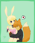 The fox and the rabbit 2 by Gusana