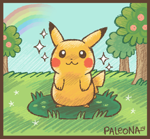 A wild Pikachu appears by Paleona