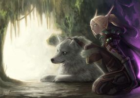 wow fan art blood Elf by Angju