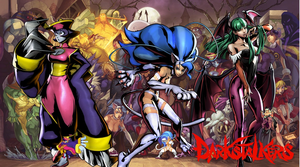 UMVC3 Darkstalkers Wallpaper by Hotfeet444