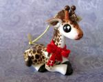 Giraffe Christmas Ornament by DragonsAndBeasties