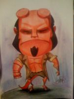 Hellboy caricature by marcocano