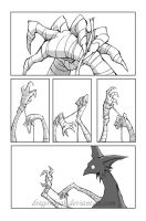 Wingless Griffin: page 01 by DragonBeak