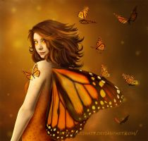 Golden Butterfly by Nesmaty