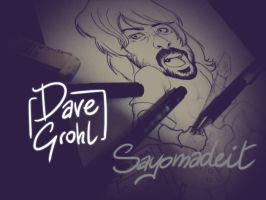 Dave Grohl WIP by SAYOMADEIT