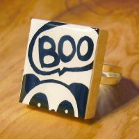 Peek-A-Boo Panda Scrabble Ring by Panduhmonium
