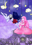 Marceline X Princess Bubblegum Adventure Time by rainhorse