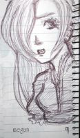 -Sketch- Frightened Girl by MeganTheartist