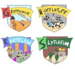 All in one - Hogwarts House Crest by 0stb