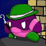 Comic Kirby: Riddler Kirby by dragonfire53511