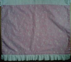 Pink Sparkly with white hearts apron by crochetamommy