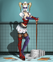 Harley Quinn: Back at the asylum by SofieSpangenberg