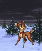 Rudolph the Red-Nosed Reindeer by WindWo1f