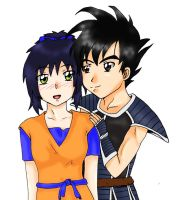 Art.Trade_Ai + Turles by tsuna-demon
