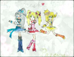 Pretty Cure/Ninjas! Beat up!! -Update- by Yellow-Phoenix