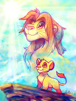 King of Pride Rock by crayon-chewer