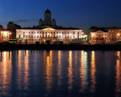 Helsinki by night by artozone
