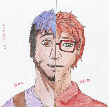 Aaron and Caleb by fruklover917
