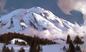Mountain sketch by RobertoGatto