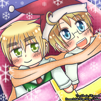 Request from Korome: USUK Christmas by Selinawen