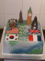 Global Monuments Cake by Rebeckington