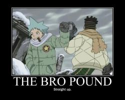 Bro pound motivational poster by Iorigaara