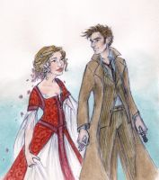 Ten and Rose and some period clothes by oboe-wan