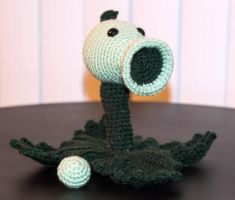 Peashooter from Plants vs. Zombies by Nicoule