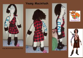 Young macintosh plush by Sasophie