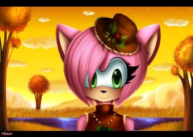 Amy rose in autumn by vlower