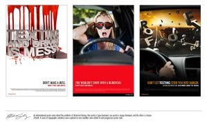 Texting and Driving Poster Campaign by witnessGFX