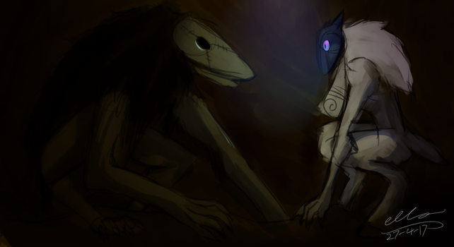 Lamb and Seedeater wip by Ellzilla