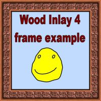 Wood Inlay 4 fames for PSP 8 by Wild-Card-CR