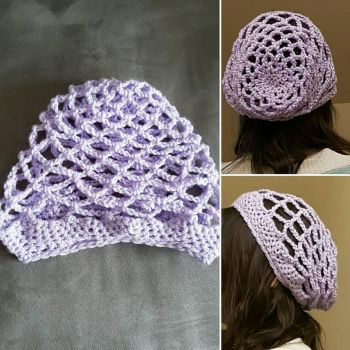 Slouchy Mesh Beanie - Baby Lilac by Reisespieces