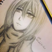 Mikasa Ackerman Sketch by AnImAtEd-MeDoW