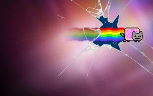 """Nyan Cat Oneric"" Wallpaper by Jayro-Jones"