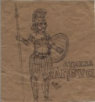 Boot Camp Drawings Sketches 1 Athena by Deorse