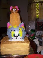 Tom and Jerry Cake by Disappointmentmama