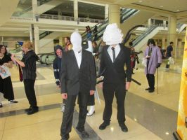 Slenderman and His Cousin Balloonderman by NoOrdinaryBalloonMan