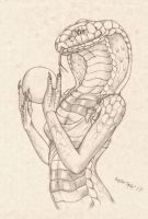 Female Cobra Study by RussellTuller