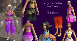 Elvaan F - Belly Dance Costume by Anarloth