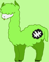 Zombie Alpaca by BloodAndKnives
